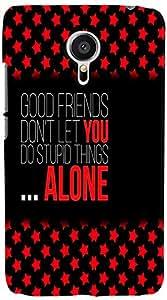 PrintVisa 3D-MEIZUMX5-D8005 Quotes Friend Back Cover for Meizu MX5