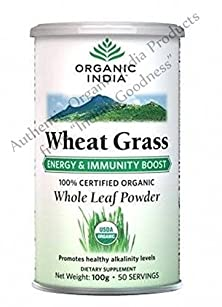 buy Organic India Wheat Grass Energy & Immunity Boost 100 Gm - With Free Gift Samples And Free Shipping