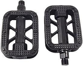 Pair Bike Bicycle Plastic Platform Pedals Replacement Black
