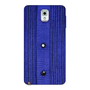 Style Royal Blue Back Case Cover for Galaxy Note 3