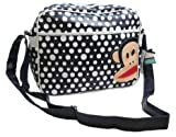 Paul Frank Monkey Face Holdall Messenger Shoulder Vintage Despatch Bag Back To School College Polka Dot Spot Navy & White
