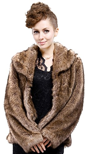 adelaqueen-womens-brown-long-hair-coyote-short-faux-fur-coat-jacket-size-xs