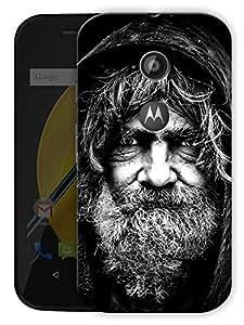 "Humor Gang Old Man Portrait Printed Designer Mobile Back Cover For ""Motorola Moto E2"" (3D, Matte Finish, Premium Quality, Protective Snap On Slim Hard Phone Case, Multi Color)"
