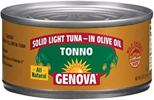 GENOVA TONNO OLIVE OIL, 24 pack of 5 oz cans