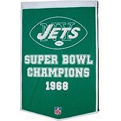 Buy Winning Streak Sports New York Jets Team Dynasty Banner by Winning Streak
