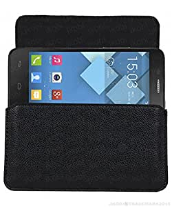 Jkobi Classic Leather Carry Pouch Holder Cover Compatible For AcerLiquid Z320 -Black