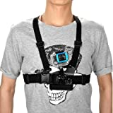 Gopromate(TM) Elastic Chest Mount Strap For GoPro Hero 3/2/1