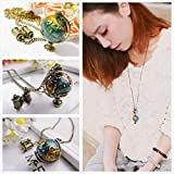 Alcoa Prime 1pcs Lady Girl Gift Alloy Fashion Retro Bronze Globe Telescope Charming Necklace Wholesale