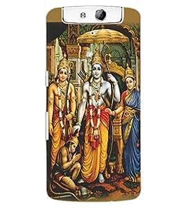 ColourCraft Lord Ram Laxaman Janaki and Hanuman Design Back Case Cover for OPPO N1