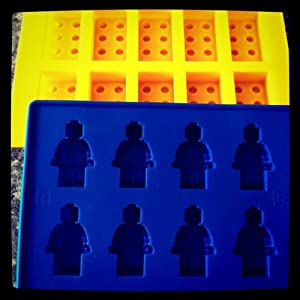 Building Bricks and Minifigure Ice Cube Tray or Candy Mold --for Lego lovers