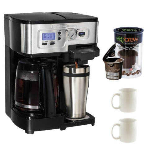 Hamilton Beach 2-Way FlexBrew Coffeemaker + Refillable