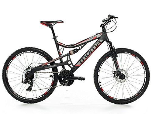 """Bicicletta Montagna Mountainbike 26"""" MTB SHIMANO, alluminio, doppio disco e doppia sospensione"""