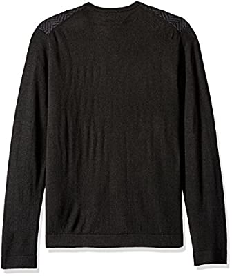 Calvin Klein Men's Merino Herringbone V-Neck Sweater