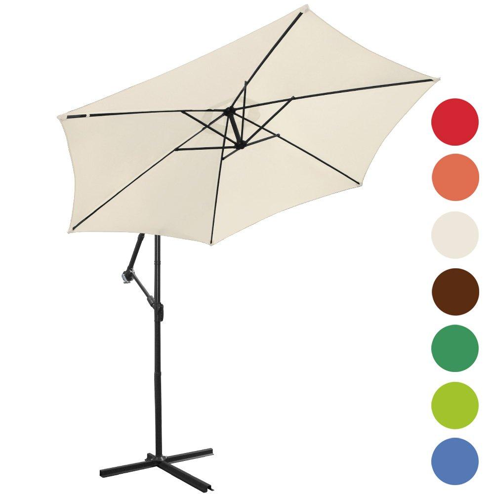 ampelschirm 300cm sonnenschirm sonnenschutz farbwahl g nstig. Black Bedroom Furniture Sets. Home Design Ideas