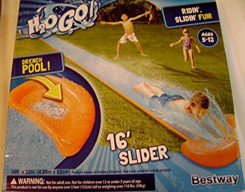 Cheap H2O Go Lawn Water Slide 16 Feet Single Rider Lane Drench Pool