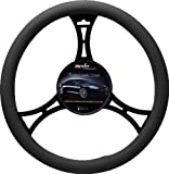 516qz4RHMAL. SL160  Moda Motorsports 9021 Black Small Sport Leather Steering Wheel Cover