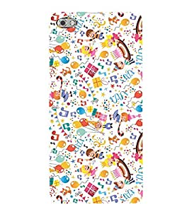 KIDS ENJOYMENT STUFF IN AN ABSTRACT PATTERN 3D Hard Polycarbonate Designer Back Case Cover for Micromax Canvas Sliver 5 Q450::Micromax Canvas Silver 5