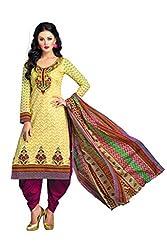 Design Willa Cotton Dress Material Saree (DW0306)