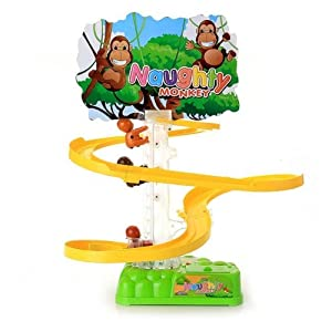 Amazon.com: Dimart Slide Climb Trees Monkey with Music Light Kids Boys