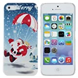 Christmas Parachute Design PC Hard Case Cover For iPhone 5 5S