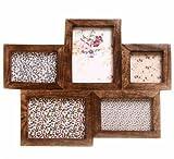 sass & belle Bilderrahmen braun dunkel Holz Wandrahmen Fotorahmen Rahmen