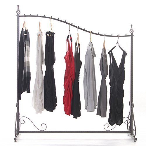Free Standing Decorative Antique Grey Iron Garment Coat Rack (Y0021) 3