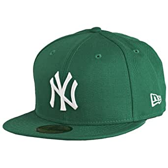 New Era - Casquette Fitted Homme New York Yankees 59Fifty Basic - Kelly Green/White - Taille 7