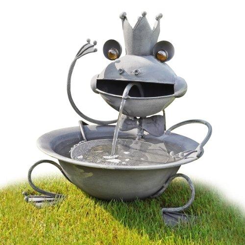 Fontaine pour jardin décoration avec pompe électrique Roi grenouille Terrasse
