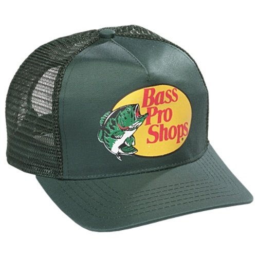 Authentic Bass Pro Mesh Fishing Hat - Dark Green, Adjustable, One Size Fits Most (Bass Pro Shops Cap compare prices)