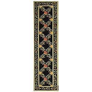 Safavieh Chelsea Collection HK60B-210 Hand-Hooked Wool Area Runner, 2-Feet 6-Inch by 10-Feet, Black