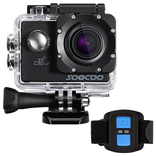 4K WIFI Sports Action Camera, SOOCOO UHD Waterproof