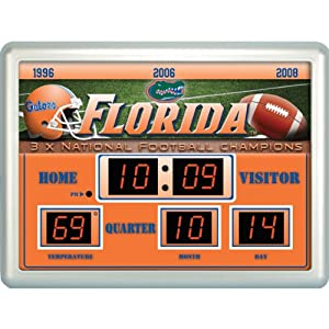 Buy Team Sports America Florida Gators 14x19 Scoreboard Clock Thermometer by Team Sports America