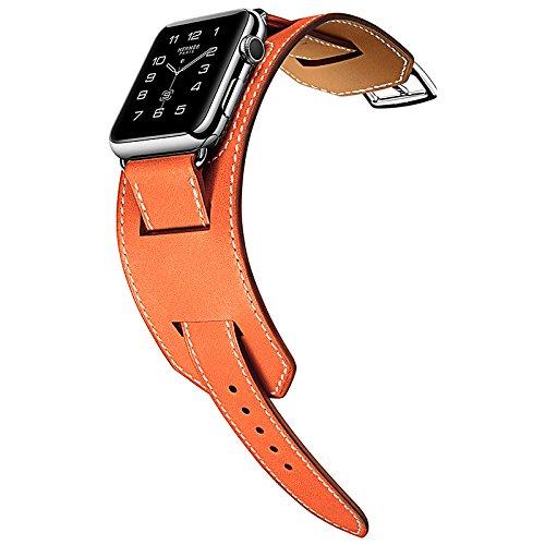 HOCO per Apple Watch Band, pinhen doppia Tour braccialetto cinturino in pelle, serie 3in 1cinturino in vera pelle per Apple Watch