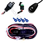 MICTUNING 40 Amp Universal Wiring Harness for Off Road LED Light Bars_Relay ON/OFF Switch_ and LED Work Light Lamps ATV, UTV, Truck, SUV, Polaris Razor RZR, Rigid, Yamaha, Ranger