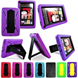 Cellularvilla Tm Combo Case for Amazon Kindle Fire Multi color Hybrid Armor Kickstand Hard Soft Case Cover