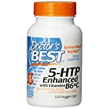 Doctor's Best 5-HTP Enhanced With Vitamins B6 And C, Vegetable Capsules, 120-Count