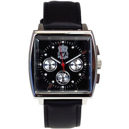 Liverpool FC Limited Edition Chronograph Black Leather Strap Gents Watch GA1611