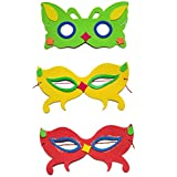 LAXMI COLLECTION (PACK OF 10) FOAM MADE MASK FOR KIDS, RETURN GIFT FOR KIDS BIRTHDAY PARTY (FOR MORE GIFT SEARCH...