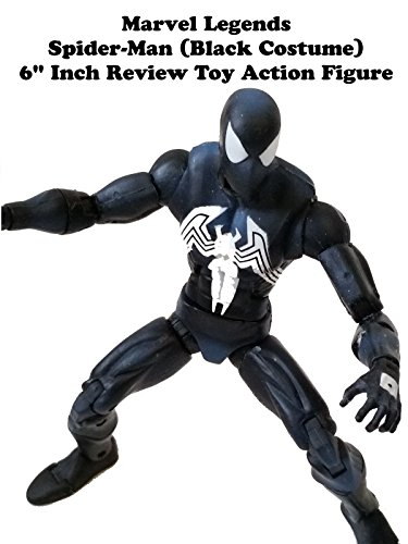 "Marvel Legends SPIDER-MAN (Black Costume) Review 6"" inch action figure (Hasbro Red Hulk BAF series)"