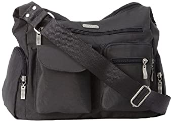 Baggallini Luggage Everywhere Bag with Exterior Pocket, Charcoal, One Size