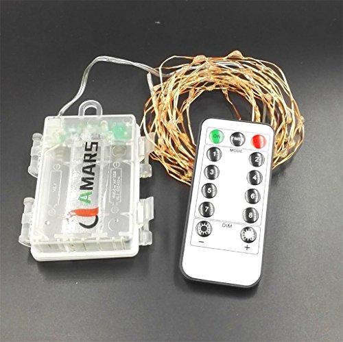 remote led string lights battery powered amars 16 feet. Black Bedroom Furniture Sets. Home Design Ideas