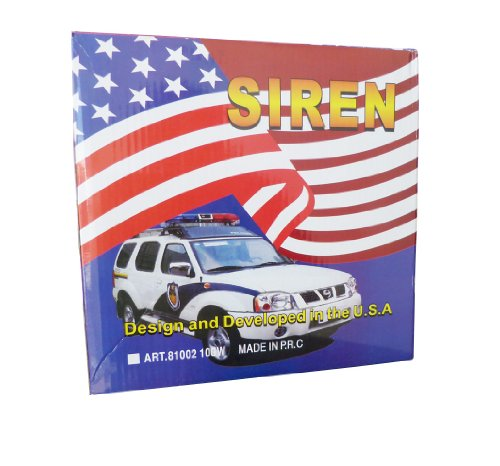 100W Police Siren 7 Tone PA System Electronic Emergency Sound