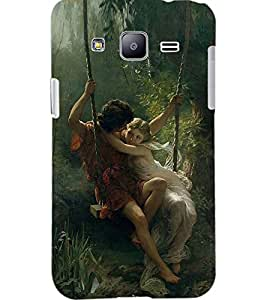 PrintDhaba LOVE COUPLE D-7046 Back Case Cover for SAMSUNG GALAXY J2 (Multi-Coloured)