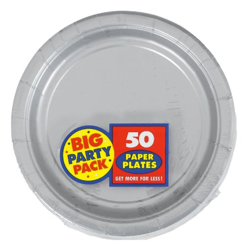 Silver Big Party Pack Dessert Plates (50) - 1