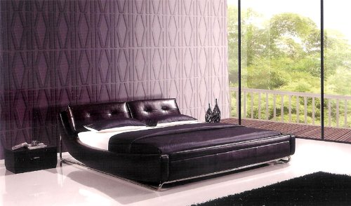 Perfect pc Modern Queen Leather Bedroom Set AM B Q