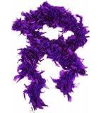 HAAC Federboa Feder Boa Farbe Lila 180 cm für Fasching Karneval Party