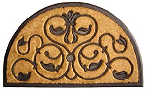Imports Decor Half-round Rubber Back Coir Doormat, Brigoder, 30-Inch by 48-Inch