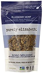 Purely Elizabeth Ancient Grain Granola Minis, Blueberry Hemp, 2 Ounce (pack Of 8)