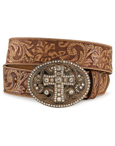 JUSTIN VINTAGE CROSS BELT - COGNAC