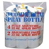 6 Commercial Spray Bottles of 32 Oz.